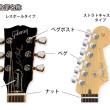 エレキギター(ストラトキャスター・レスポールヘッド)各部名称