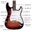 エレキギター(ストラトキャスター)各部名称