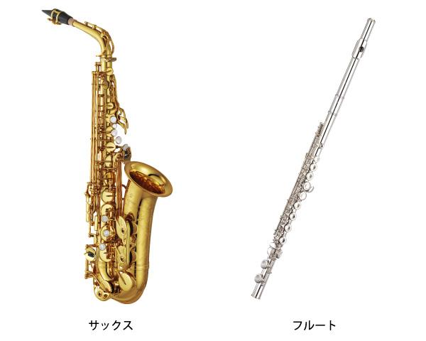 金属製なのに木管楽器なサックスとフルート