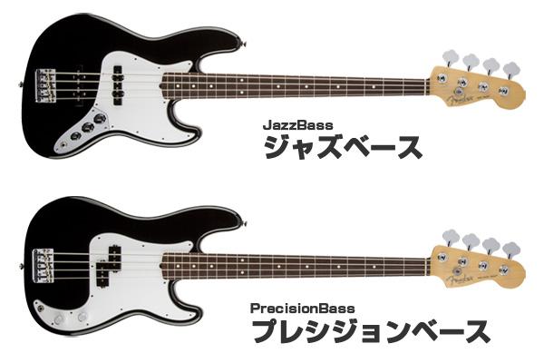 Fender-ジャズベースとプレシジョンベース