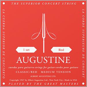 オーガスチンクラシックギター弦赤セット