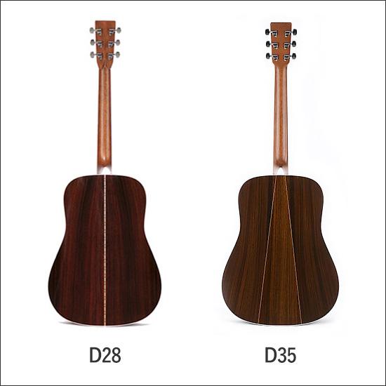 Martinのアコースティックギター_D28とD35