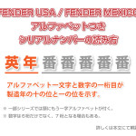 FENDER USA・FENDER MEXICOのシリアルナンバーの読み方・見方と製造年代
